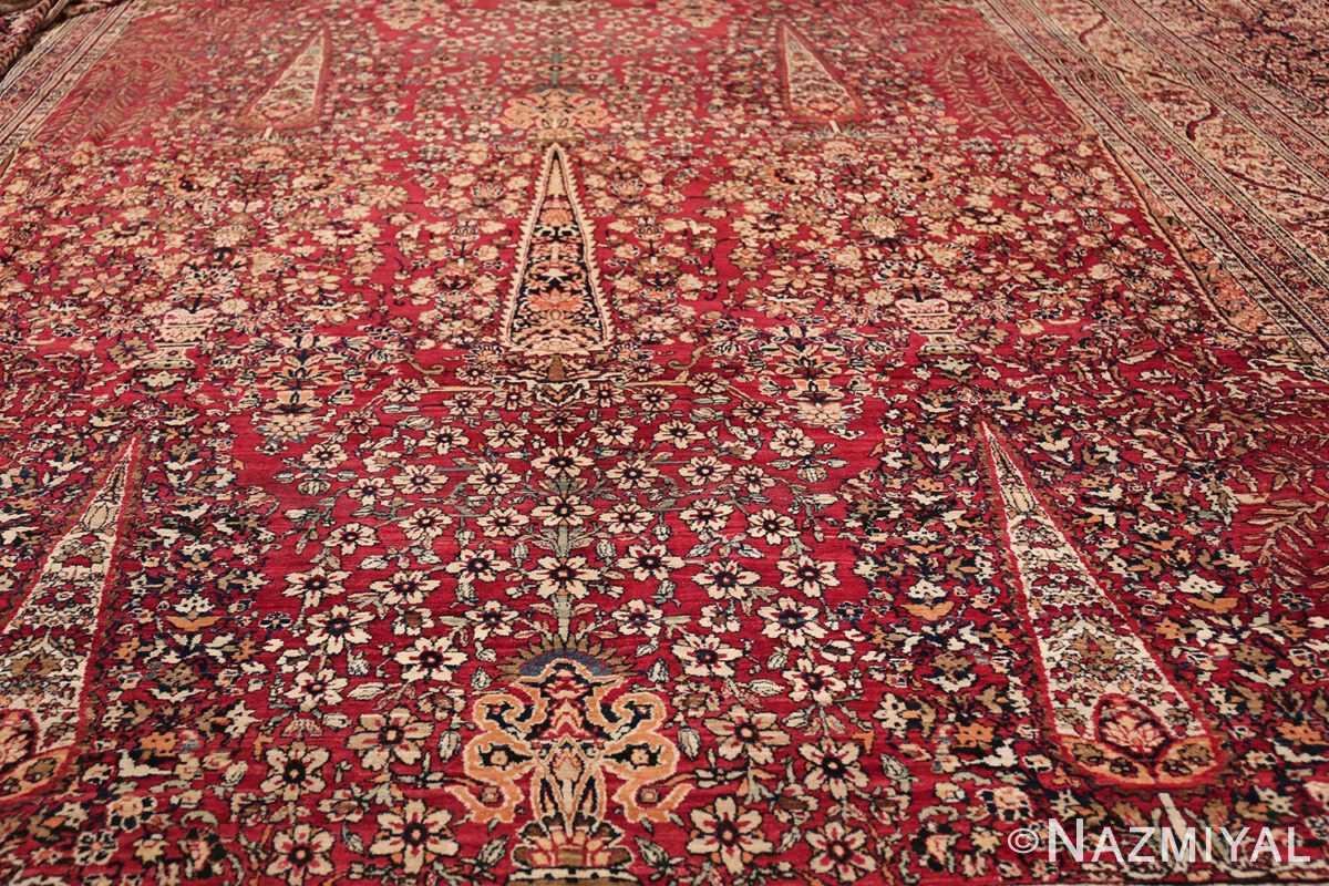 Antique Oversized Persian Kerman Carpet 48210 Pine Tree Section Nazmiyal