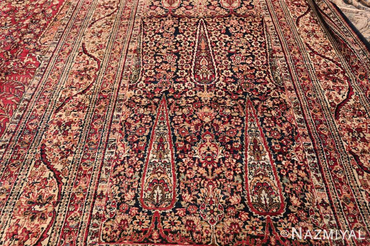 Antique Oversized Persian Kerman Carpet 48210 Right Side Section Nazmiyal