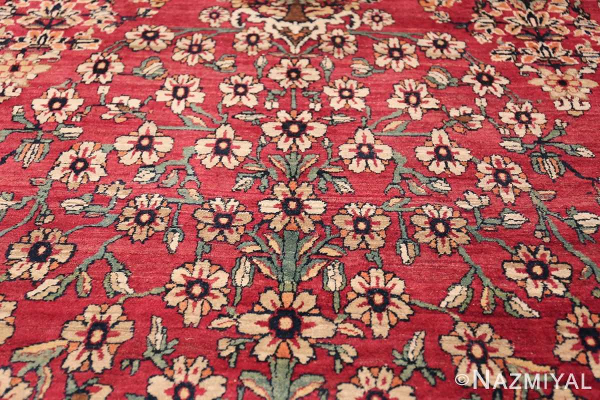 Antique Oversized Persian Kerman Carpet 48210 Tiny Ivory Flower Nazmiyal