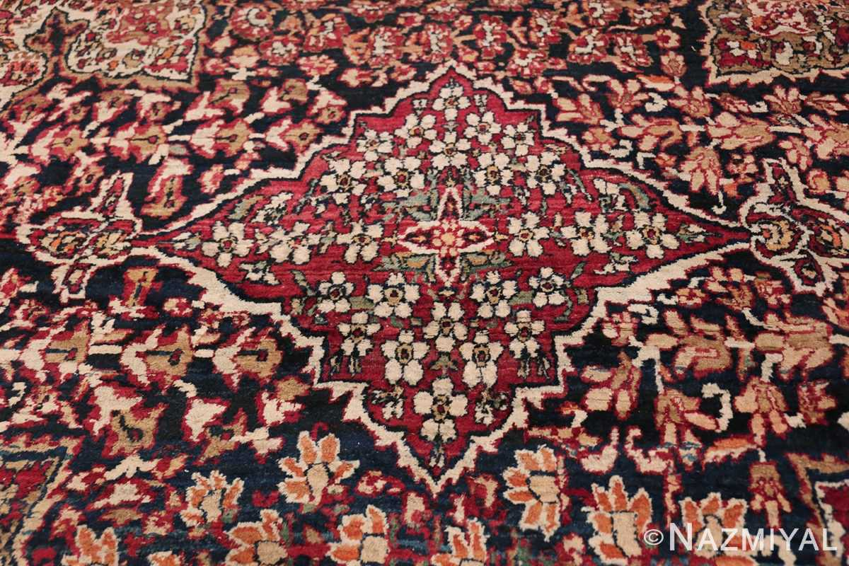 Antique Oversized Persian Kerman Carpet 48210 Top Red Section Nazmiyal