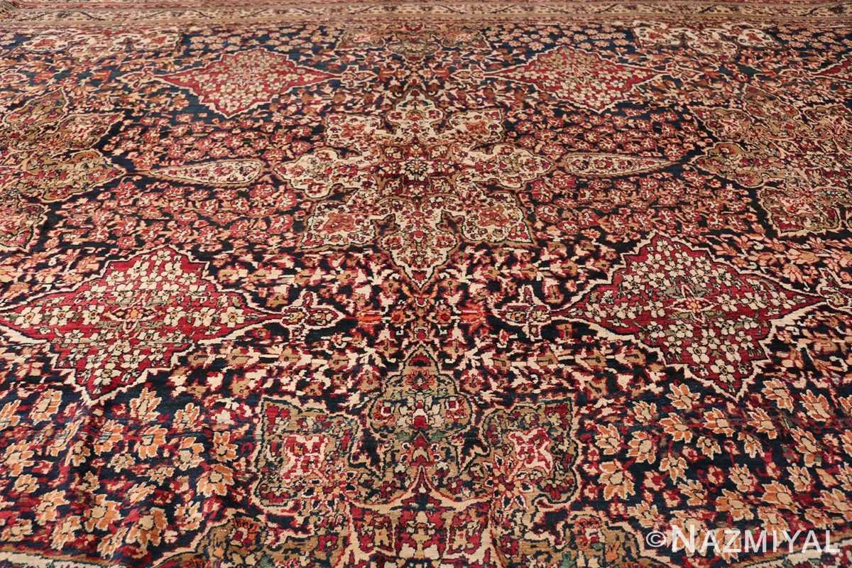 Antique Oversized Persian Kerman Carpet 48210 Top Section Nazmiyal