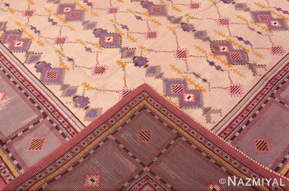 back Vintage room size pile Scandinavian rug 48123 by Nazmiyal
