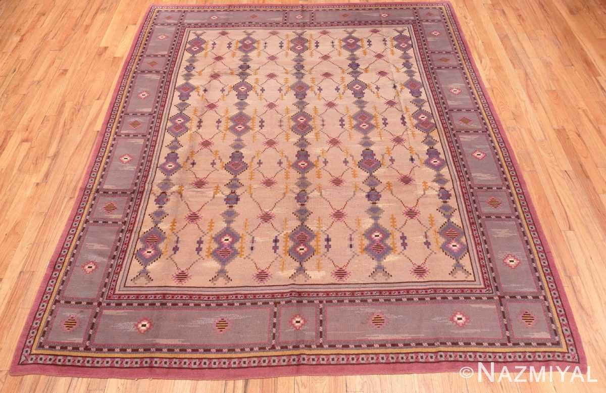 full Vintage room size pile Scandinavian rug 48123 by Nazmiyal
