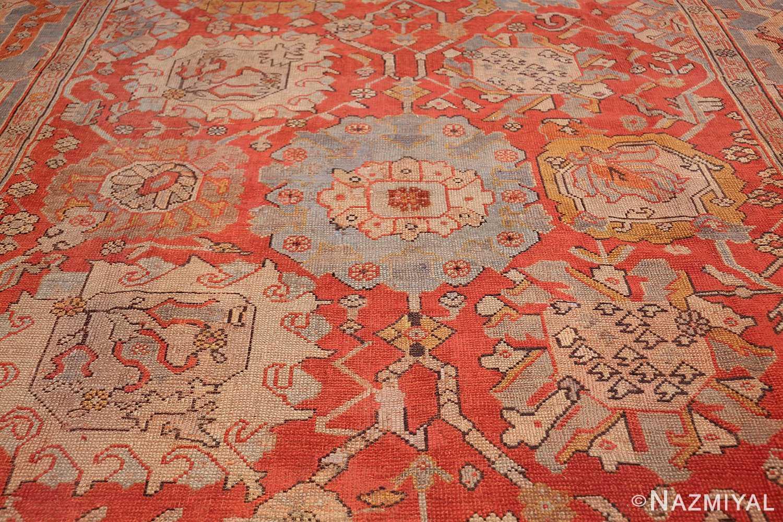 large antique turkish oushak carpet 48127 blue Nazmiyal