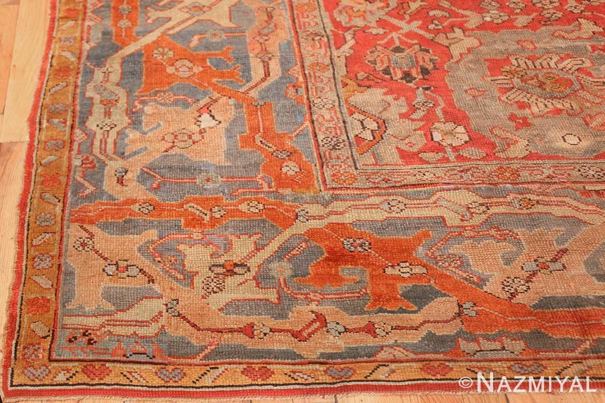 large antique turkish oushak carpet 48127 corner Nazmiyal