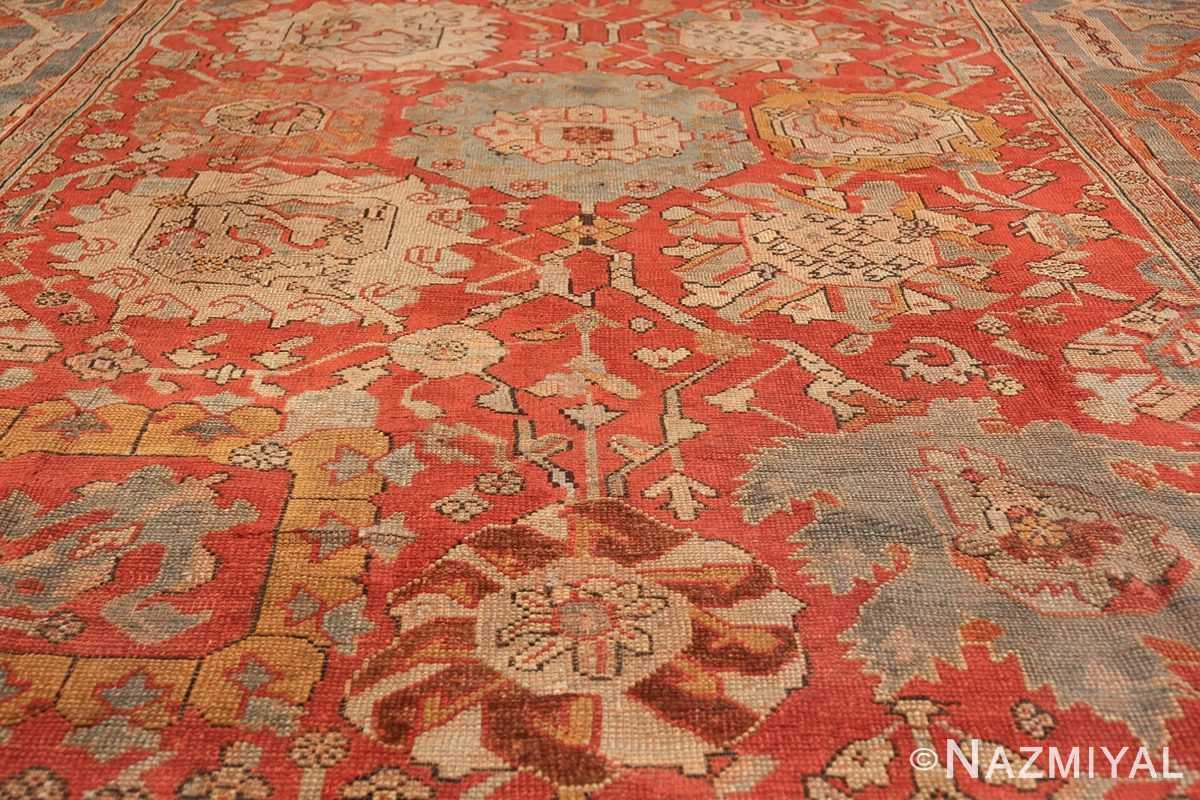 large antique turkish oushak carpet 48127 field Nazmiyal