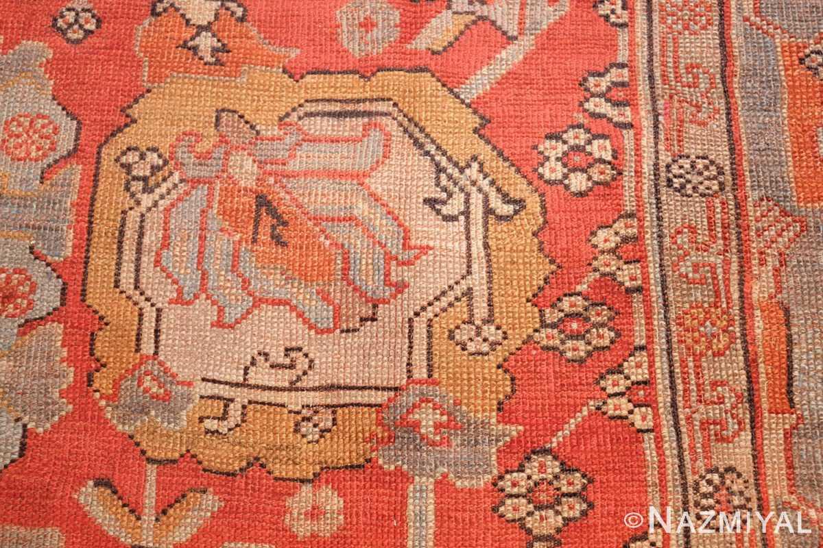 large antique turkish oushak carpet 48127 ivory Nazmiyal