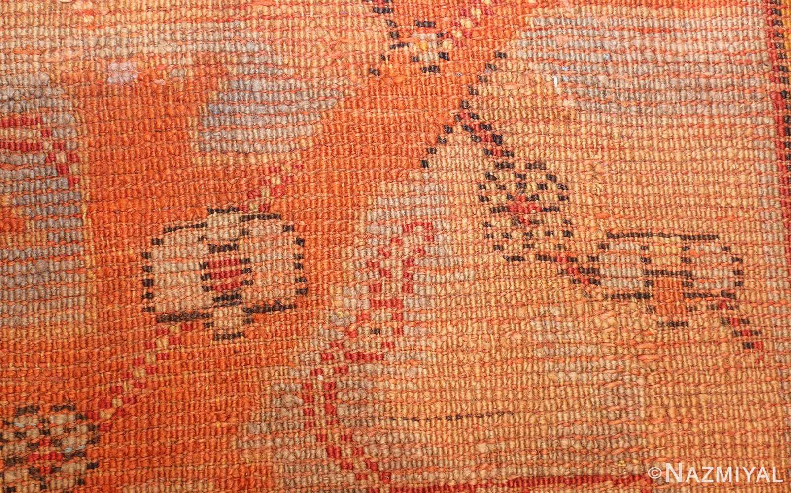 large antique turkish oushak carpet 48127 knots Nazmiyal