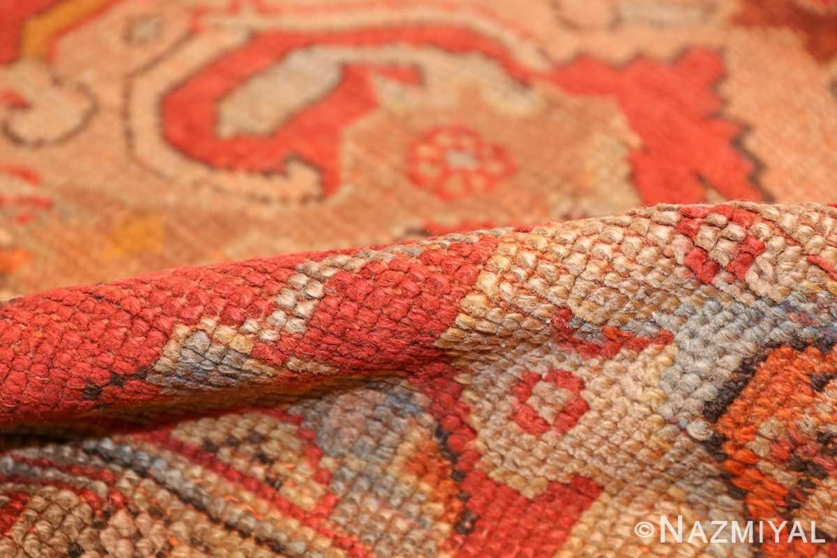 large antique turkish oushak carpet 48127 pile Nazmiyal
