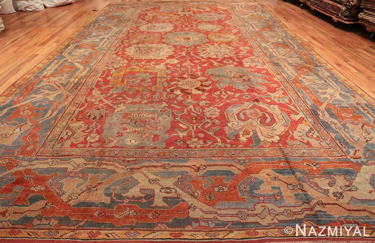 large antique turkish oushak carpet 48127 whole Nazmiyal