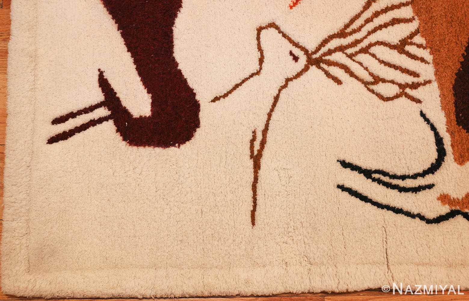 vintage art deco ecuadorian rug 48178 by olga corner Nazmiyal