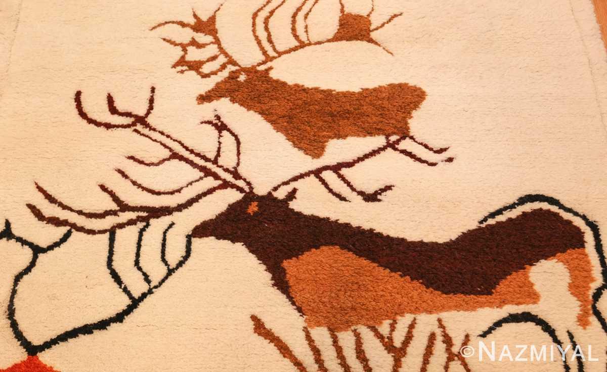 vintage art deco ecuadorian rug 48178 by olga top Nazmiyal