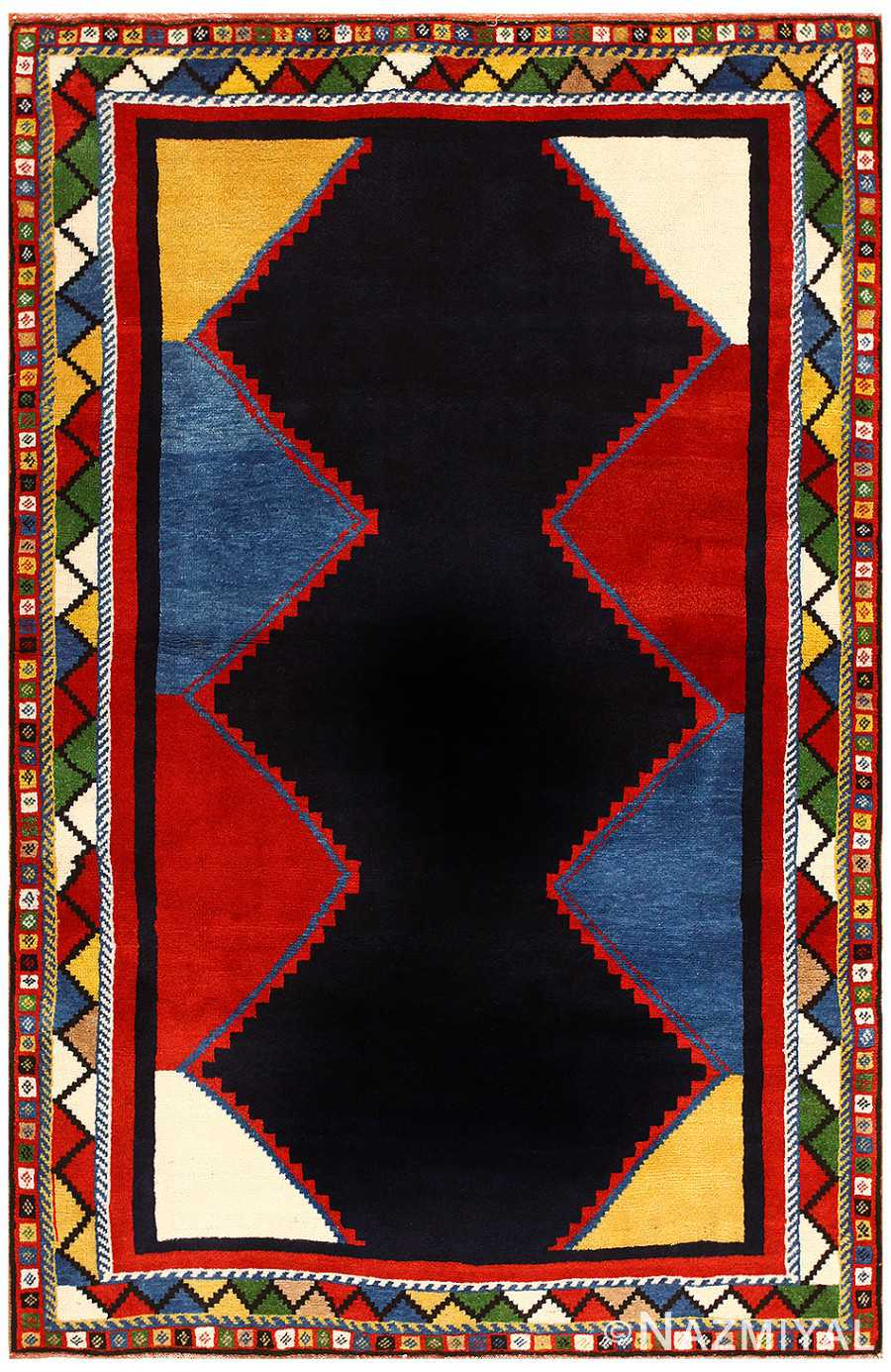 Vintage Persian Ghashgai Rug 48229 Nazmiyal