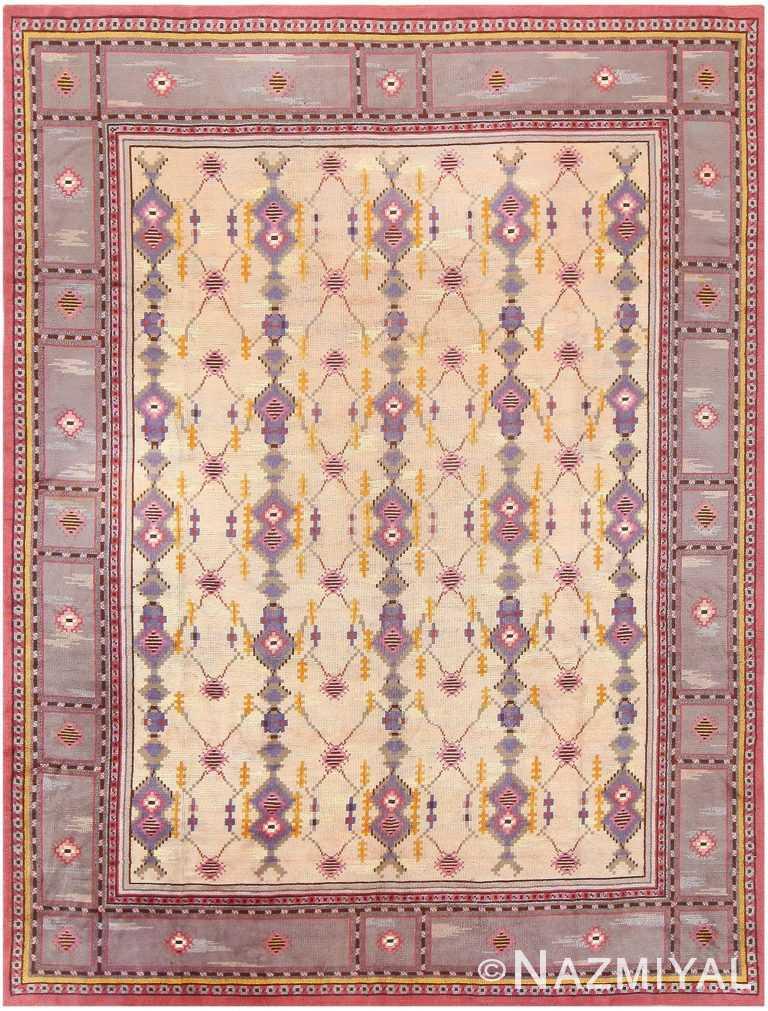 Vintage Scandinavian Carpet 48123 Detail/Large View