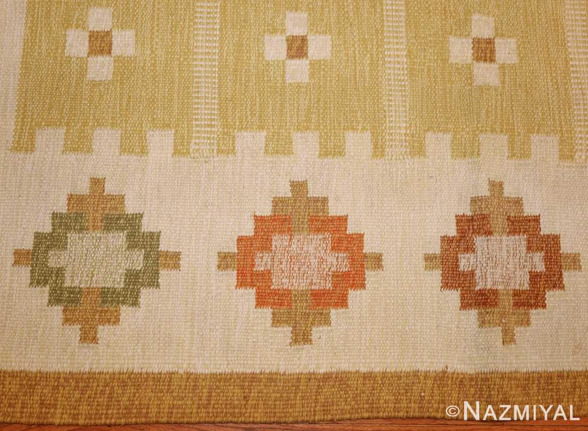 vintage scandinavian kilim 48192 border Nazmiyal