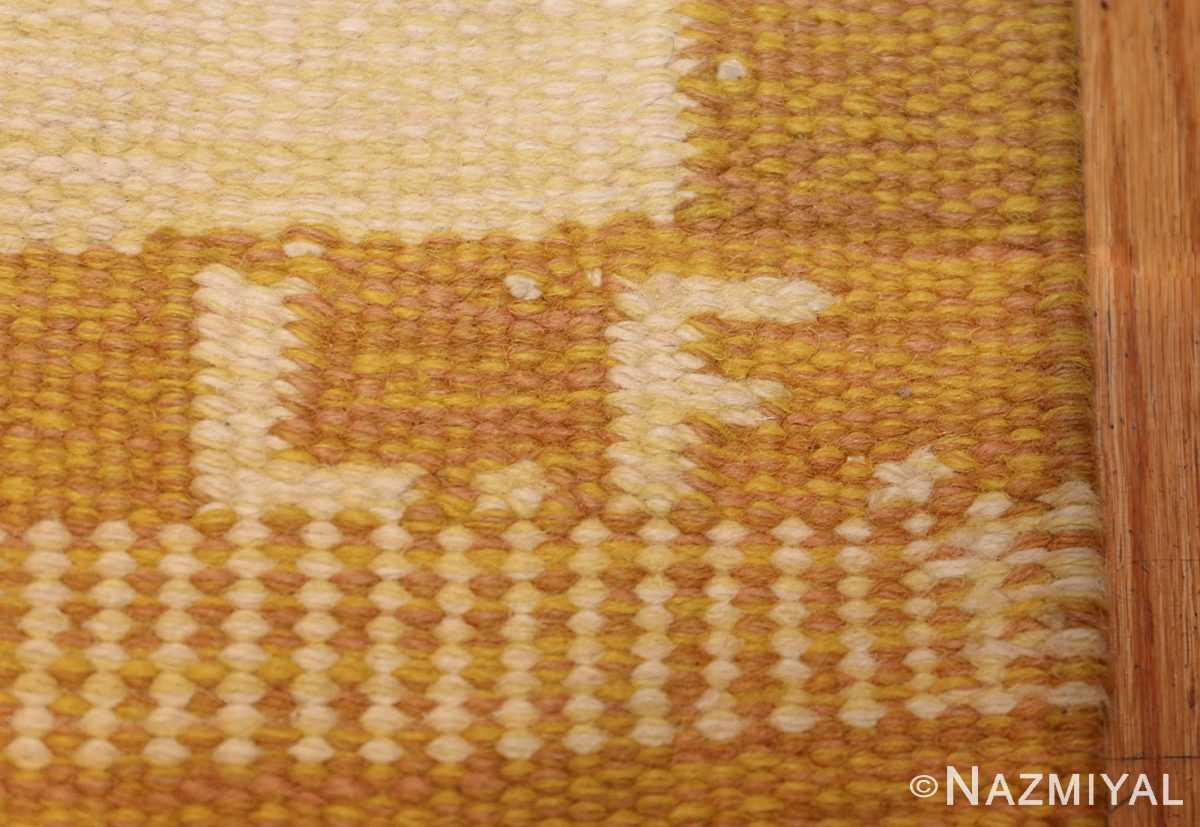 vintage scandinavian kilim 48192 initials Nazmiyal