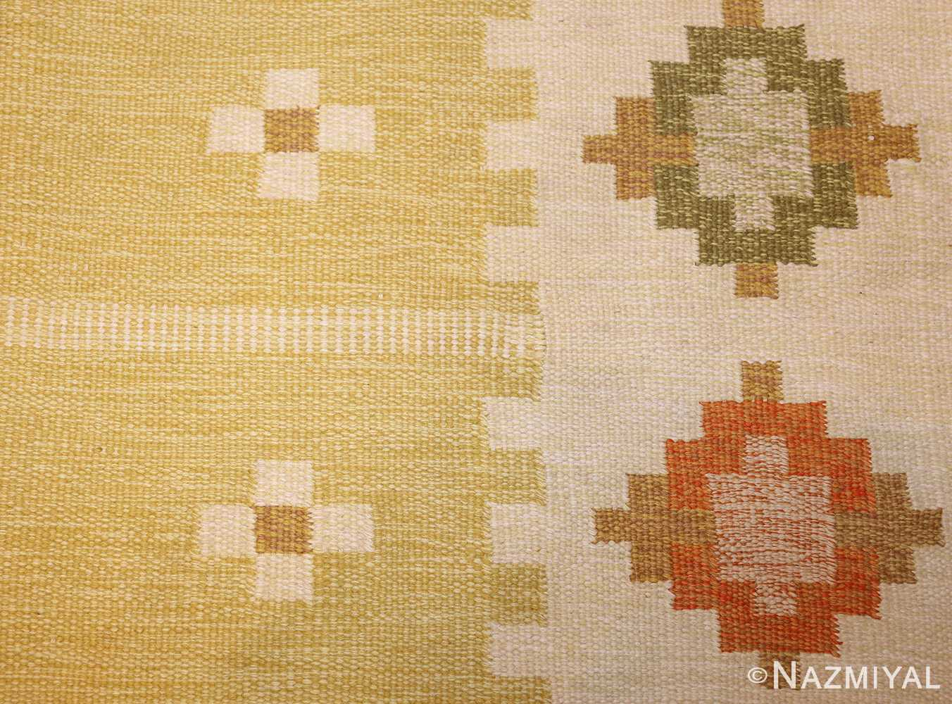 vintage scandinavian kilim 48192 pattern Nazmiyal