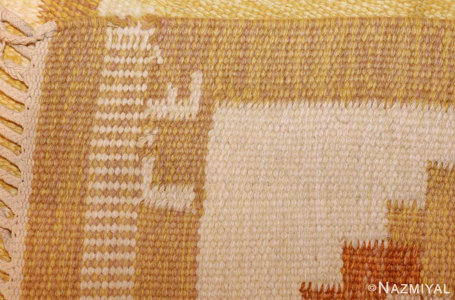 vintage scandinavian kilim 48192 pile Nazmiyal