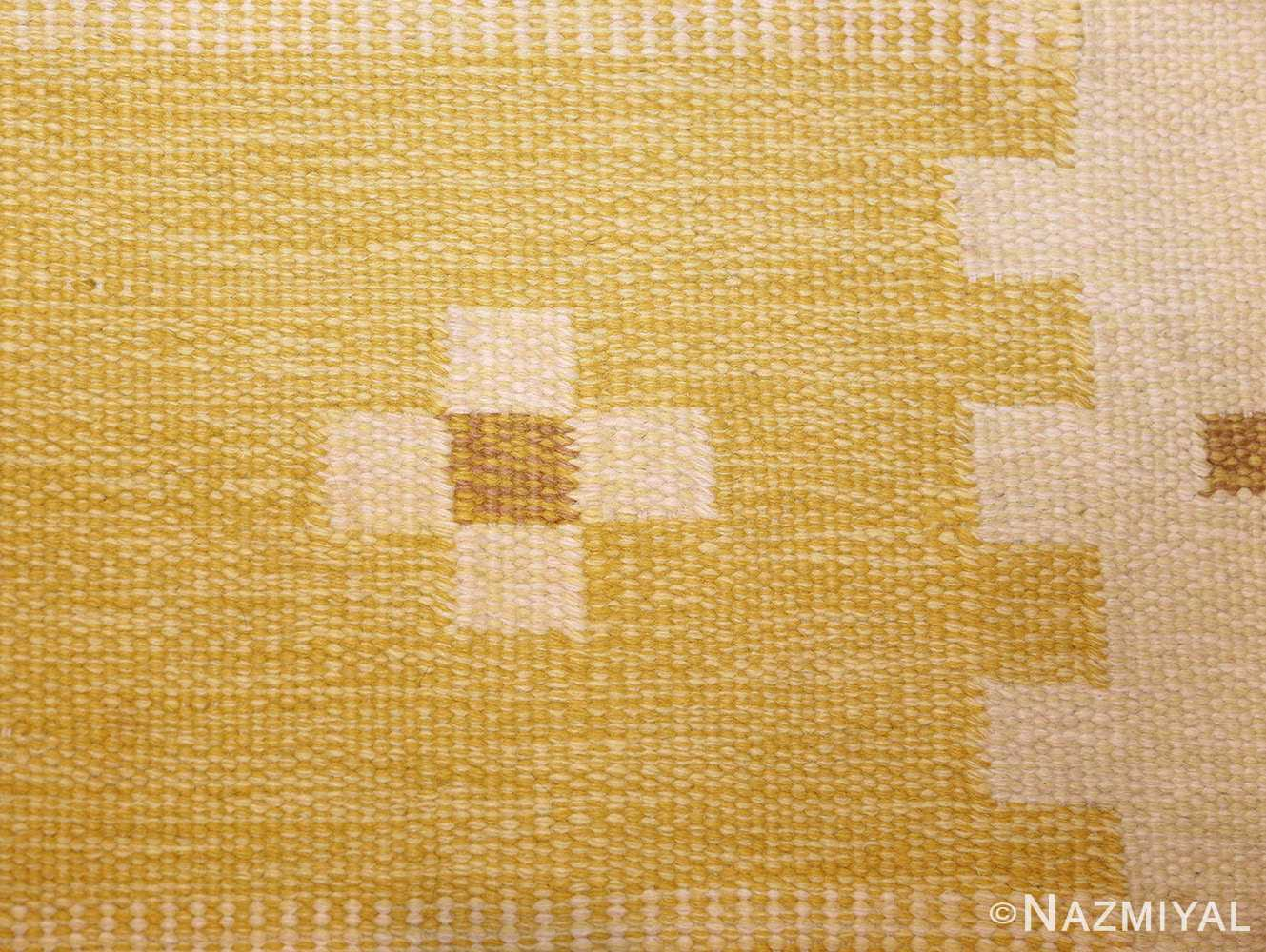 vintage scandinavian kilim 48192 white Nazmiyal