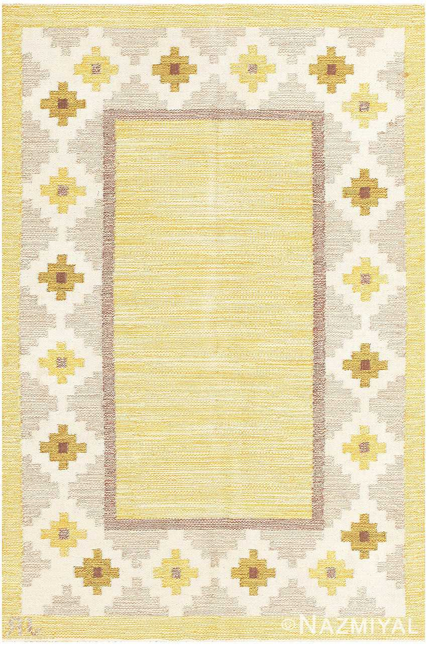 Vintage Swedish Kilim 48202 Detail/Large View