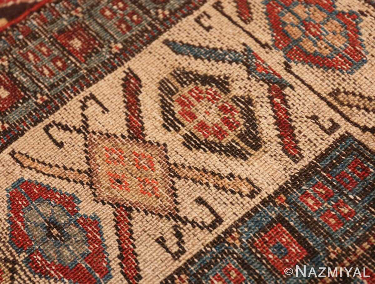 Weave detail Antique Northwest Persian runner rug 47536 by Nazmiyal