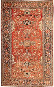 Antique Persian Heriz Serapi Rug 43696