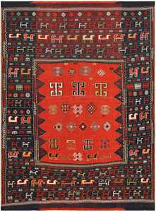 Antique Caucasian Tribal Rug 48239 Nazmiyal