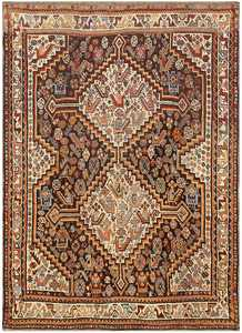 Antique Ghashgai Persian Rug 47540 Nazmiyal
