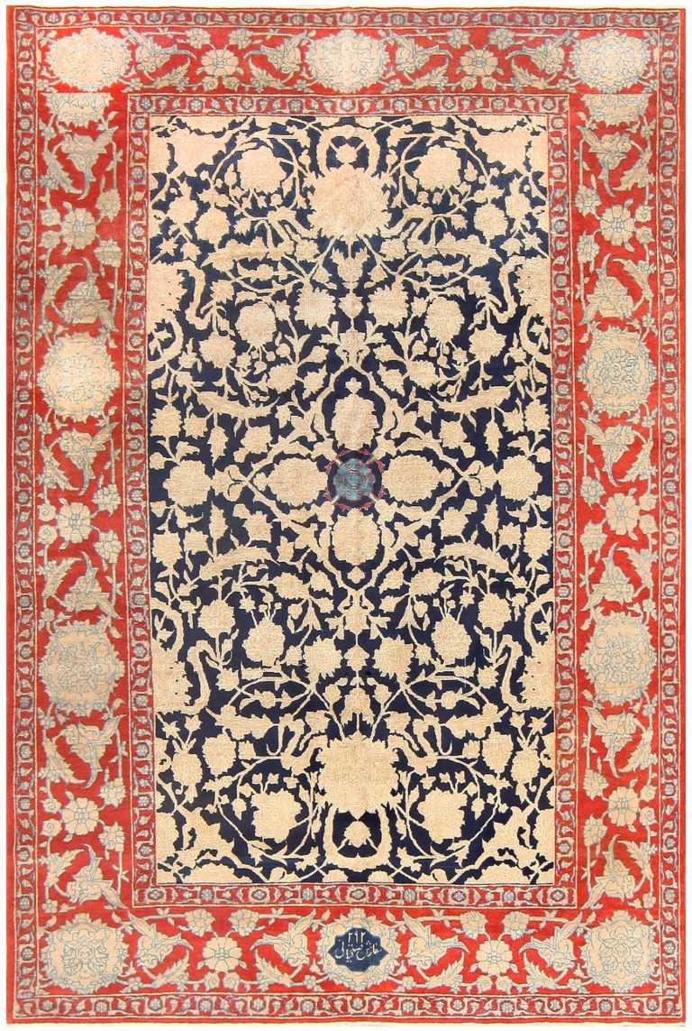 Antique Persian Tabriz Rug 48235 Detail/Large View