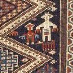 Geometric People Human Figures Antique Caucasian Shirvan Rug 46196 - Nazmiyal