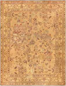 Large Antique English Carpet 1783 Detail/Large View