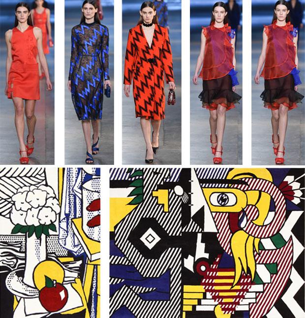 Fashion Week Christopher Kane Collection & Roy Lichtenstein Pop Art Rugs