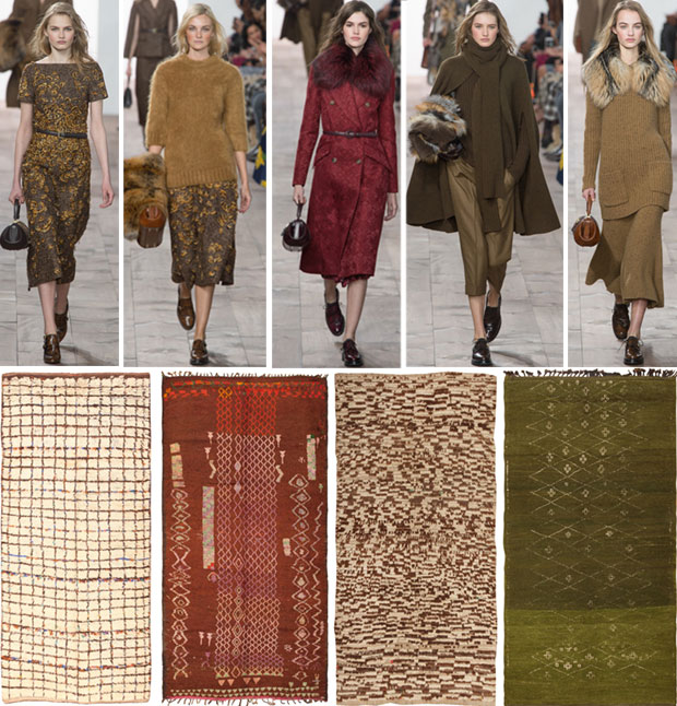 Fashion Week Michael Kors Collection & Vintage Moroccan Rugs
