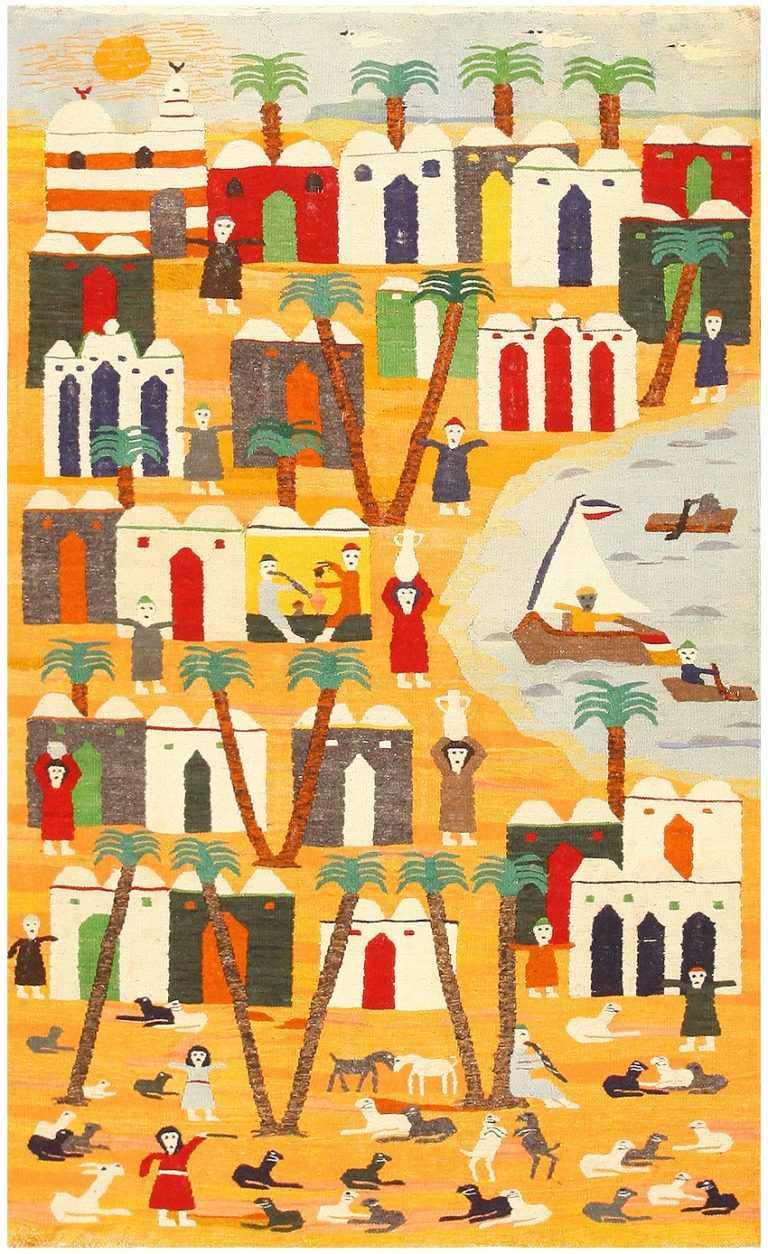 Vintage Swedish Kilim Tapestry 48251 Nazmiyal