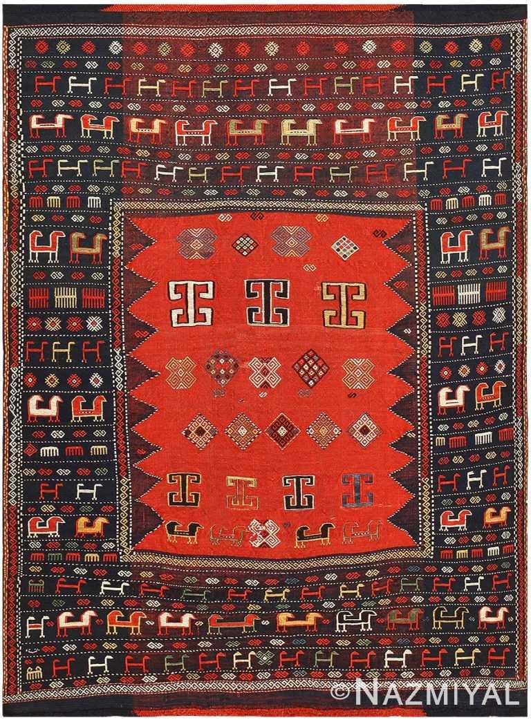 Antique Caucasian Tribal Rug 48239 Nazmiyal