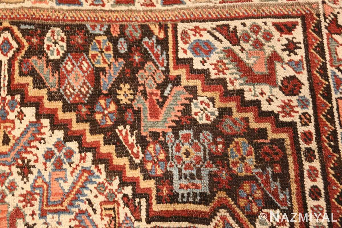 antique ghashgai persian rug 47540 animals Nazmiyal