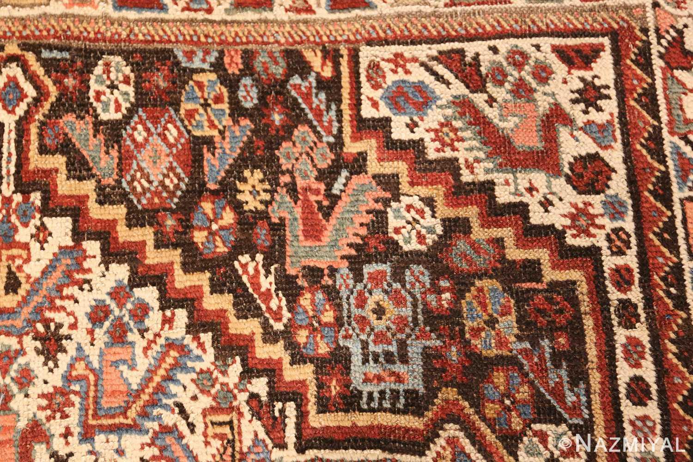 antique ghashgai persian rug 47540 animals Nazmiyal