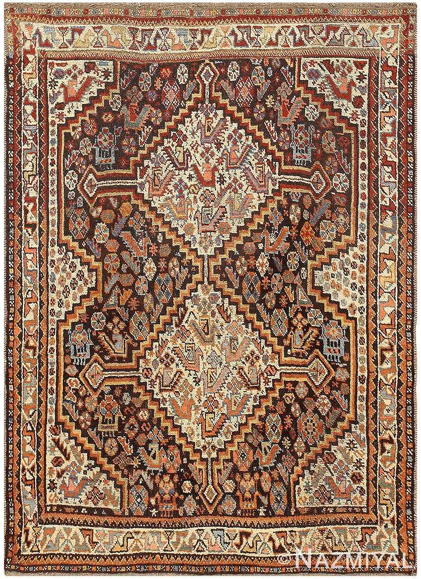 Antique Ghashgai Persian Rug 47540 Nazmiyal