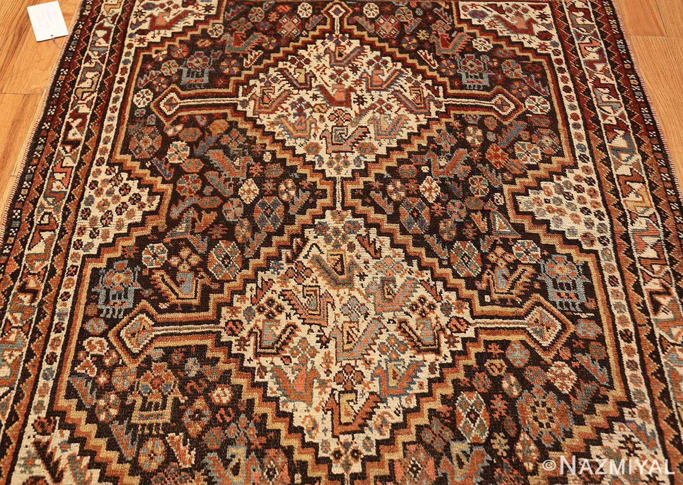 antique ghashgai persian rug 47540 field Nazmiyal