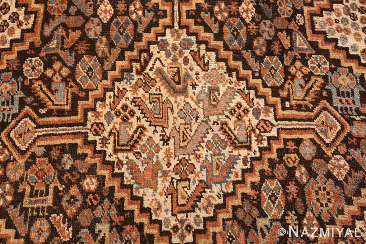 antique ghashgai persian rug 47540 medallion Nazmiyal