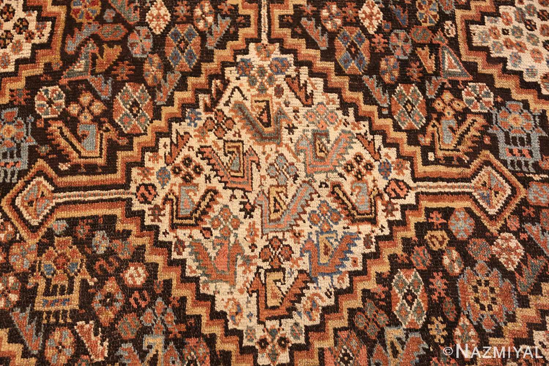antique ghashgai persian rug 47540 medallion Nazmiyal