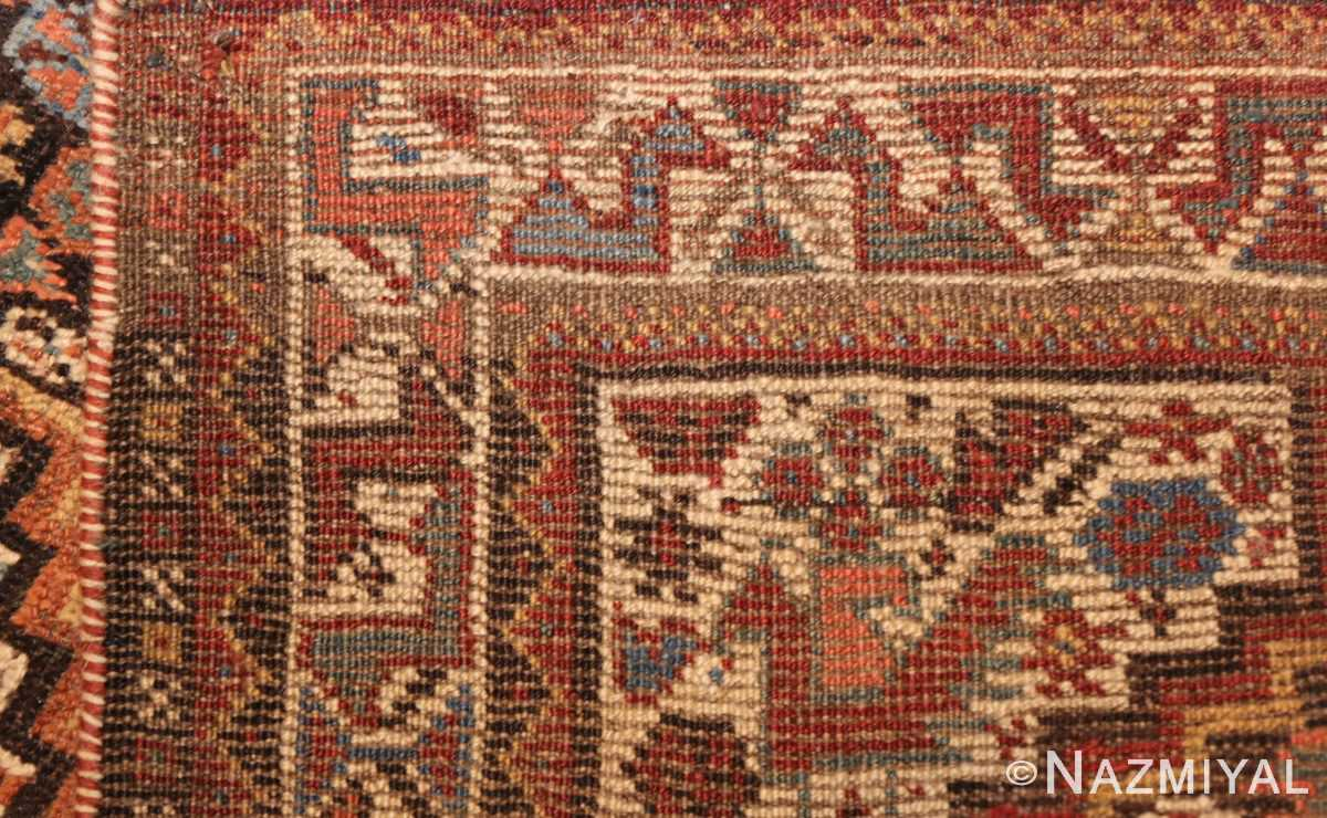 antique ghashgai persian rug 47540 weave Nazmiyal