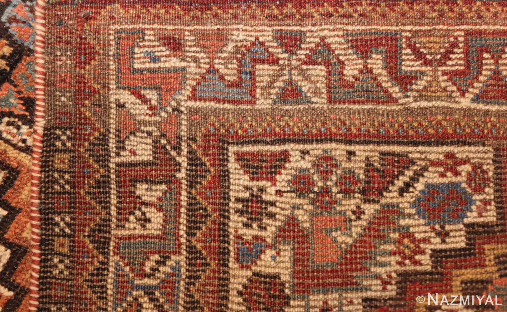 antique ghashgai persian rug 47540 weave Nazmiyal