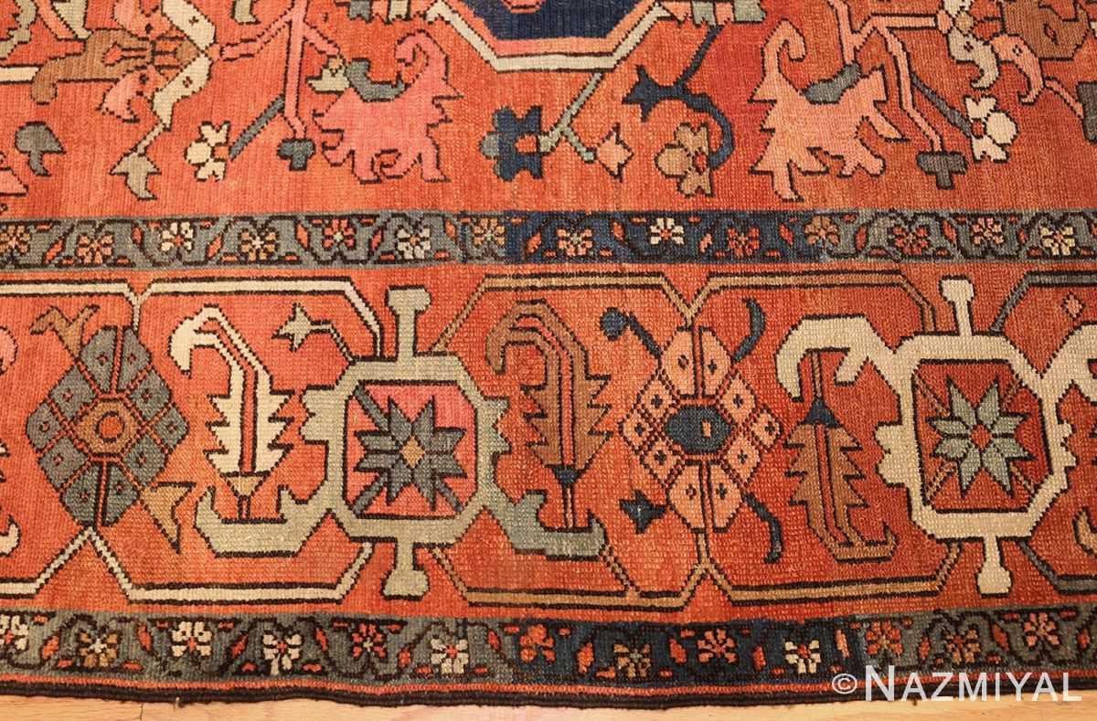antique persian serapi rug 48241 border Nazmiyal