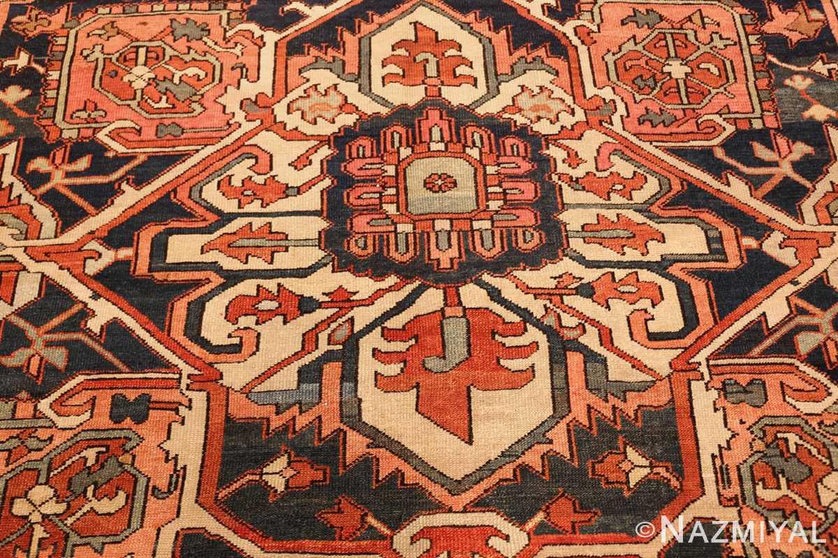antique persian serapi rug 48241 center Nazmiyal