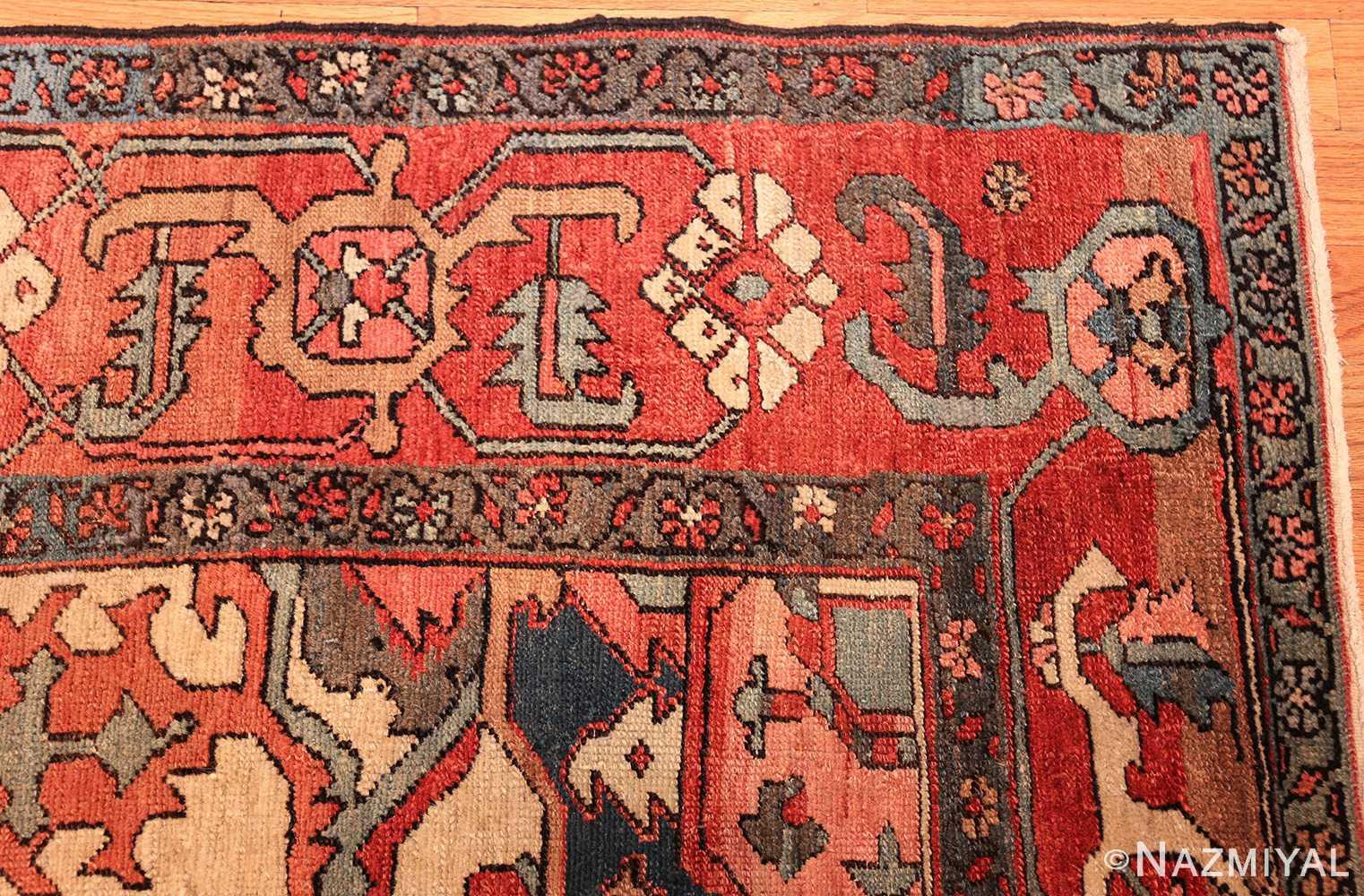 antique persian serapi rug 48241 corner Nazmiyal
