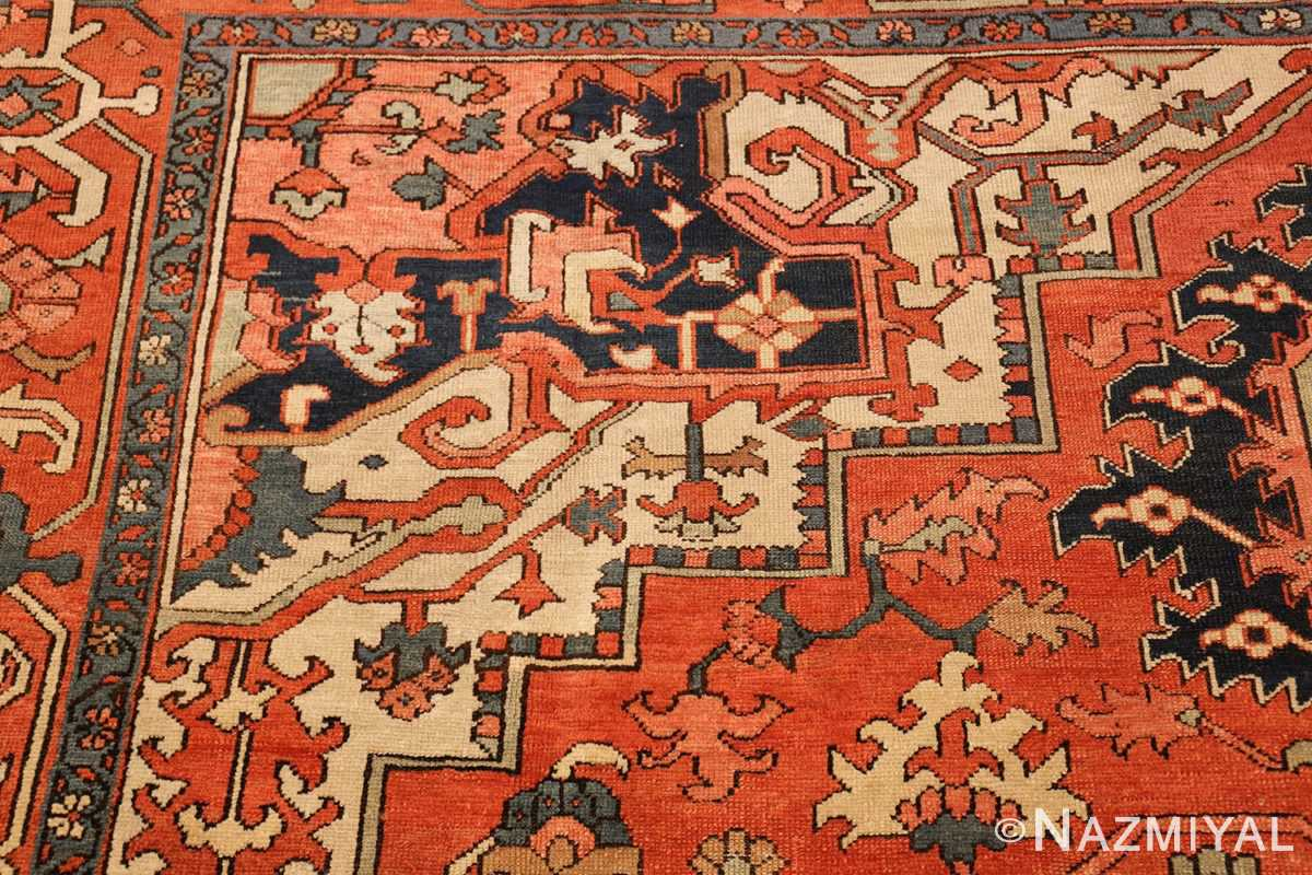 antique persian serapi rug 48241 design Nazmiyal