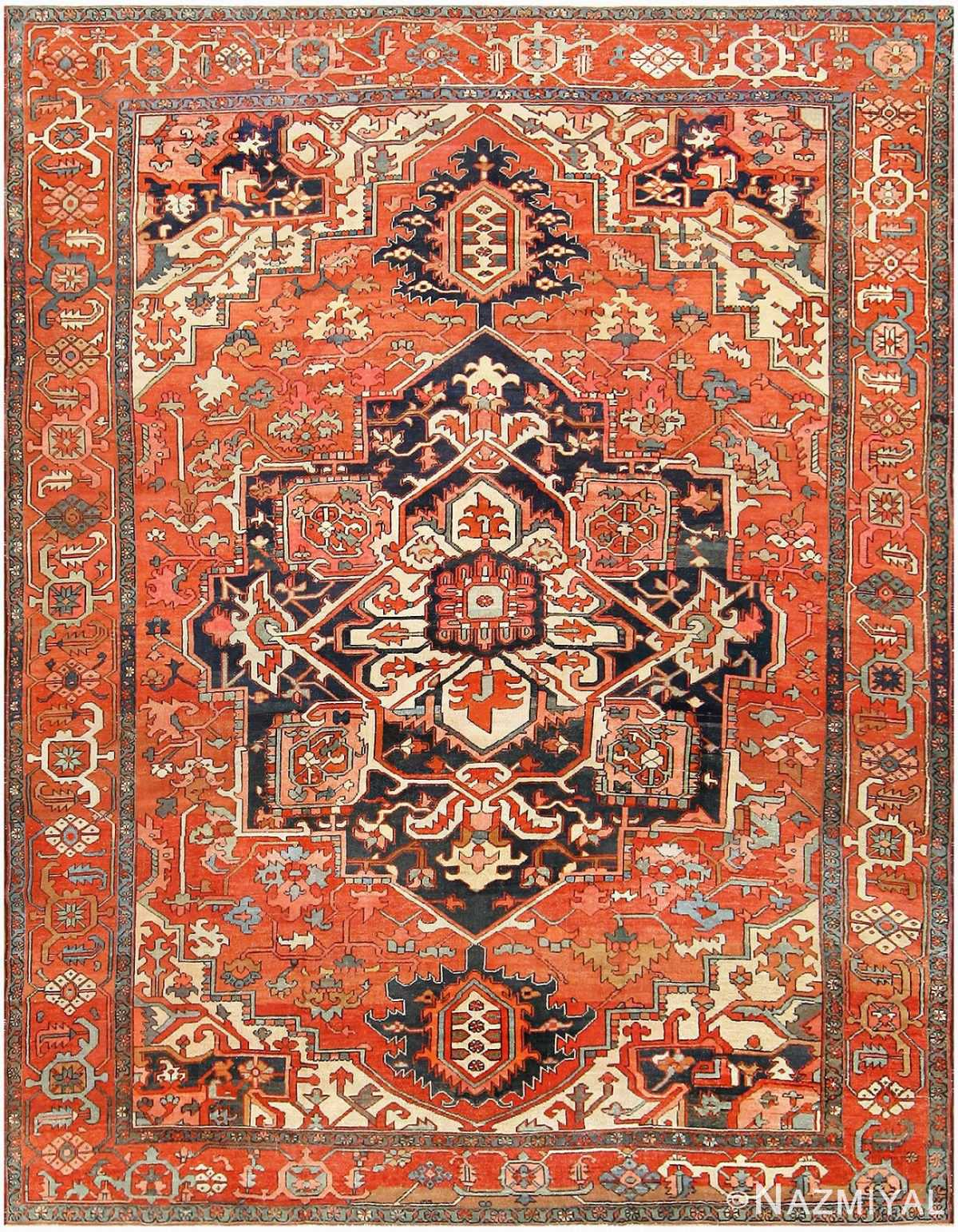 Antique Persian Serapi Rug 48241 Detail/Large View