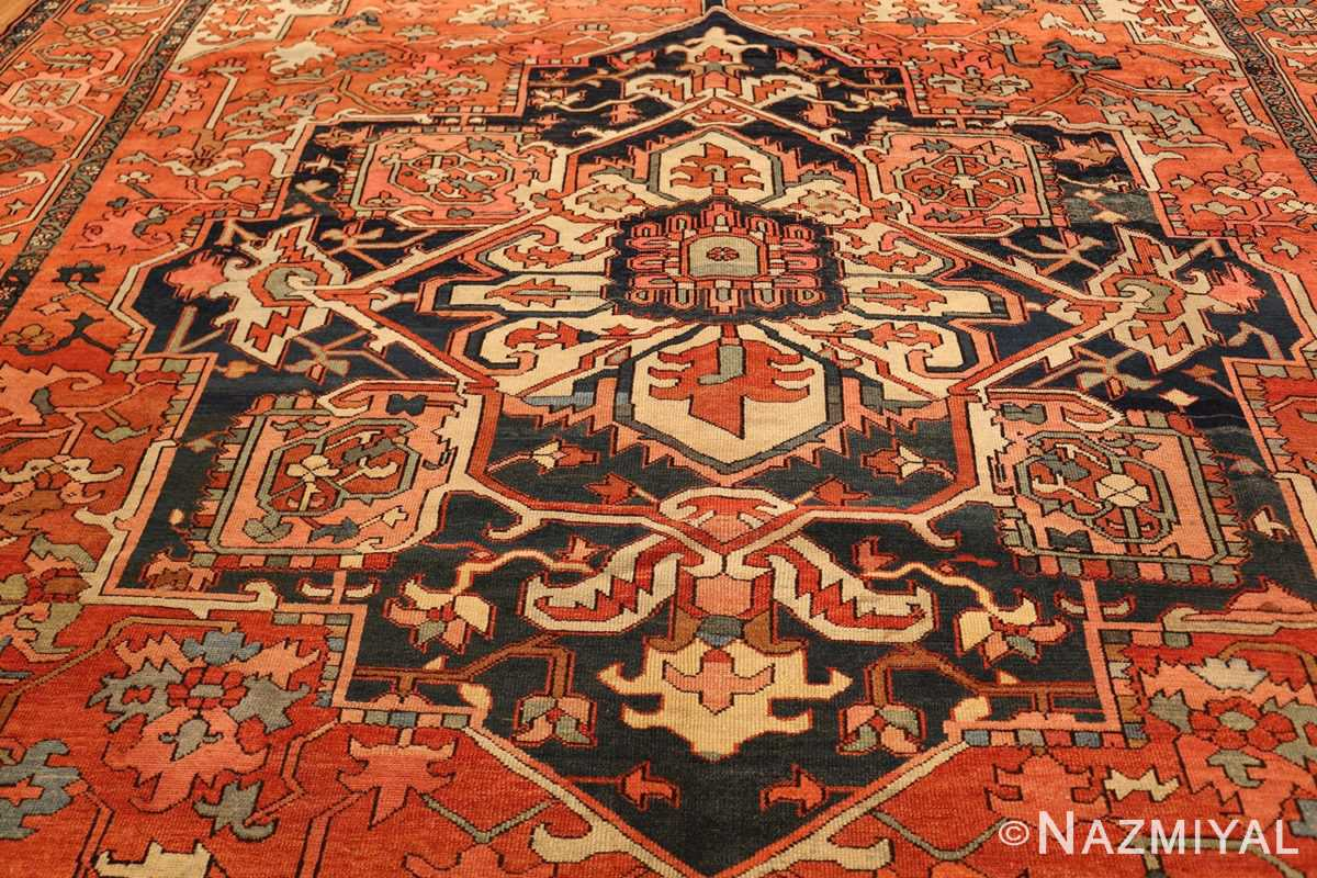 antique persian serapi rug 48241 medallion Nazmiyal