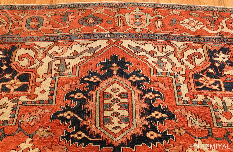antique persian serapi rug 48241 top Nazmiyal